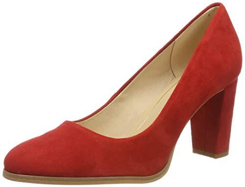 Clarks Kaylin Cara, Zapatos de Tacón para Mujer, Rojo (Red Suede Red Suede), 40 EU