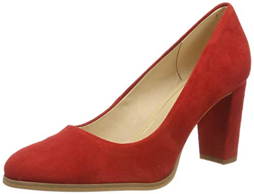Clarks Kaylin Cara, Scarpe con Tacco Donna, Rosso Red Suede, 38 EU