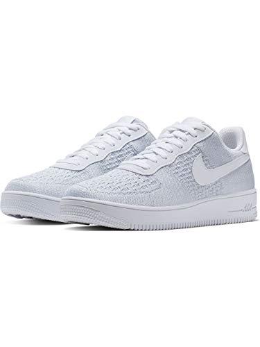 Nike Air Force 1 Flyknit 2.0, Zapatillas de Baloncesto para Hombre, Multicolor (White/Pure Platinum/Pure Platinum/White 100), 38.5 EU