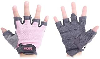 FunWay Washable Paired Body Building Gym Fitness Weightlifting Half Finger Gloves Anti slip Strength Training Exercise for Women Sport
