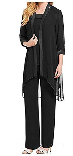 Women's Chiffon Pants Suits 3 PC Mother's Outfit Suits for Wedding Plus Size Evening Gowns Dress Suit