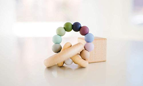 Pebble Saturn Ring Baby Teether Rattle