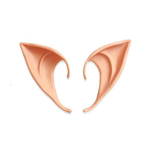3.9' Cosplay Elf Ears, ANIN 1 pair Soft Latex Pointed Ears Tips Fairy Costume