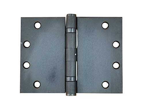 Wide Throw Hinge - Heavy Duty Steel with Oil Rubbed Bronze Finish, 4.5 Inch x 6 Inch, Ball Bearing, 2 Pack