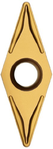 "Sandvik Coromant CoroTurn 107 Carbide Turning Insert, VBMT, 35 Degree Diamond, MM Chipbreaker, GC2025 Grade, Multi-Layer Coating, VBMT 331-MM, 3/8"" iC, 0.0157"" Corner Radius (Pack of 10)"