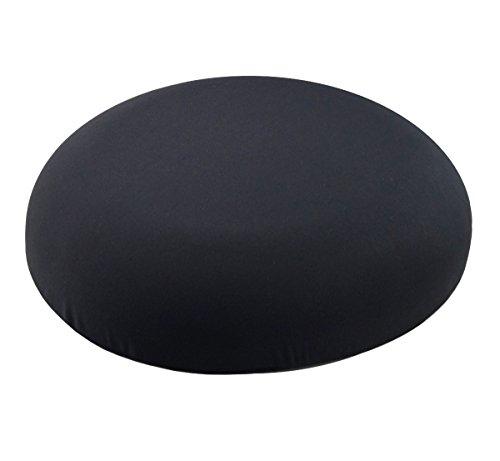PrimoCare Orthopädischer Memory-Schaum Sitzring für druckfreies Sitzen. Hämorrhoiden und Anti-Dekubitus Sitzkissen, schmerzlindernd und entlastend. Abnehmbarer Bezug in Schwarz, Ø 44 cm, 9 cm hoch