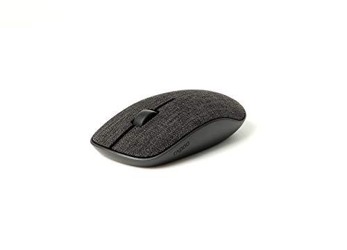 Rapoo M200 Plus kabellose Maus, Bluetooth und Wireless (2.4 GHz) via USB, Stoffoberfläche, Silent, leise Tasten, flach, 1300 DPI, schwarz