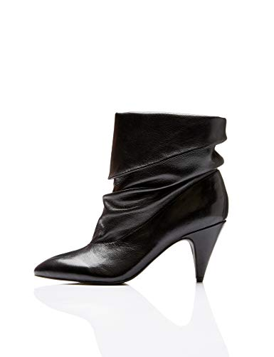 find. 118AL1841 Damen, Slouch Stiefel, Schwarz (Black Black), 39 EU