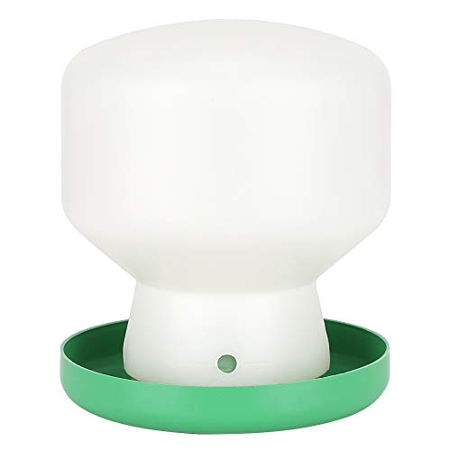 Jadeshay Pet Bird Bebedero automático, plástico Grande Cubierta Verde Barril Blanco Fuente de Agua automática Bebedero de pájaros Dispensador de comedero para Palomas Loros