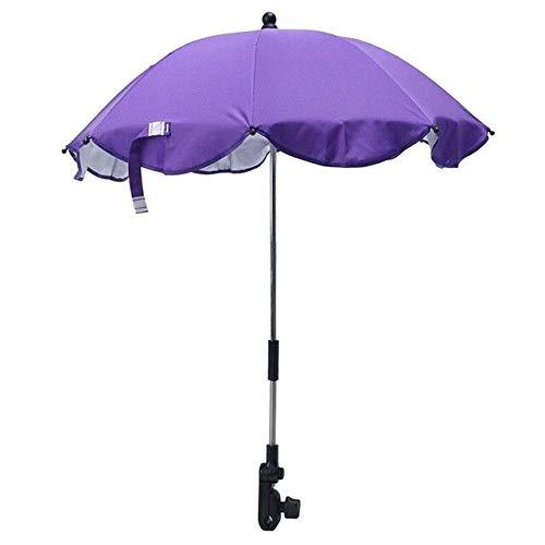 NJSDDB Regenschirm Kinder Baby Sonnenschirm Sonnenschirm Buggy Kinderwagen Kinderwagen Sonnenschirm Überdachungen Kinderwagen Zubehör SonnenschutzschirmLila