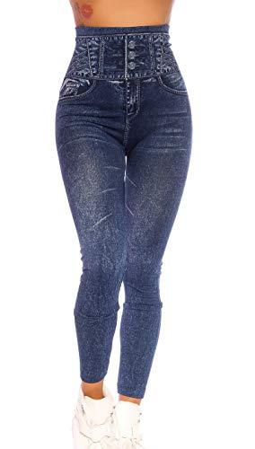 Jeans Look Leggings im High Waist-Style S/M