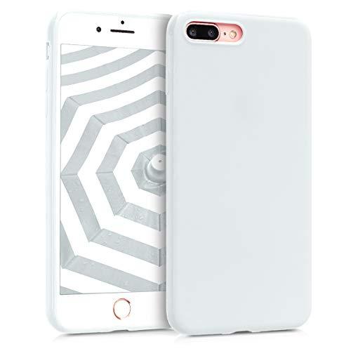 kwmobile Cover per Apple iPhone 7 Plus / 8 Plus - Custodia in Silicone TPU - Backcover Protezione Posteriore- Bianco Matt