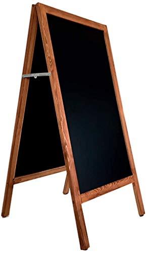 Pizarra sobre caballete de madera para menus en bares, restaurantes, hostelería o uso domestico infantil. Apta para tizas y rotuladores efecto tiza. (100X55cm)