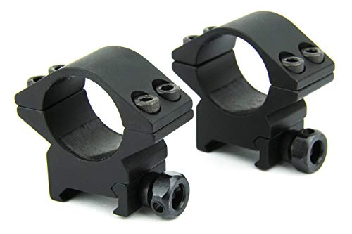 "360 TACTICAL Machine 1"" Low Profile Rifle Scope Rings for Picatinny/Weaver Style Rail, T6 6061 Aluminum"
