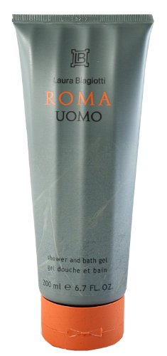 Laura Biagiotti Roma Uomo homme / men, Duschgel 200 ml, 1er Pack (1 x 1 Stück)