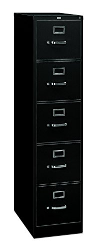 Big Sale Best Cheap Deals HON 315CPP 310 Series 26-1/2-Inch 5-Drawer Full-Suspension Legal File, Black