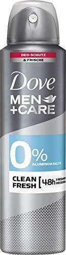 Dove Men+Care Deospray für 24 Stunden Schutz Clean Fresh ohne Aluminium, 6er Pack (6 x 150 ml)