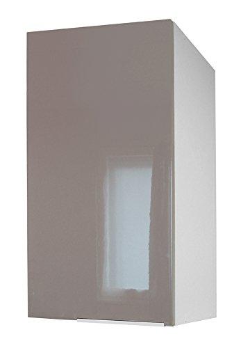 Berlenus CP3HT - Armario de cocina, Marrón (Taupe Brillante), 30 x 70 x 33.3 cm