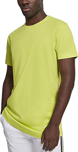Urban Classics Herren Shaped Long Tee T-Shirt, Gelb (Frozen Yellow), L