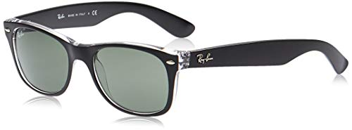 Ray-Ban New Wayfarer, Gafas de Sol Unisex adulto, Multicolor (Black and Transparent 6052), 52 mm