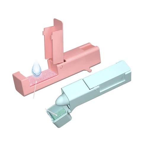 Pulsador agarrador anticontagio. Previene y ayuda a evitar el contagio en contacto con puertas, armarios y ascensores. Dispone de almohadillas desinfectantes rellenables.(blanco)