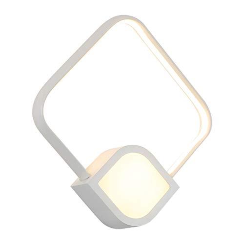 CAIMEI Linternas de Pared Soporte Luz Led Lámpara de Pared de Cabecera Escaleras Pasillo Pasillo Luz de Noche Blanco Cálido 18W, 27 * 27 * 6.5Cm