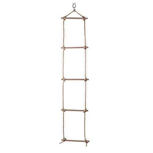 bozitian Kinder Kletternetz Kletterseil Leiter Mit Holzsprossen Kletternetz Rahmen Für Baumhaus Dens Spielhaus