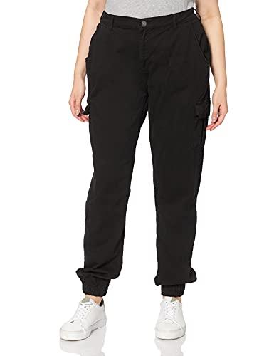 Urban Classics Damen Ladies High Waist Cargo Pants Hose, Black, 29