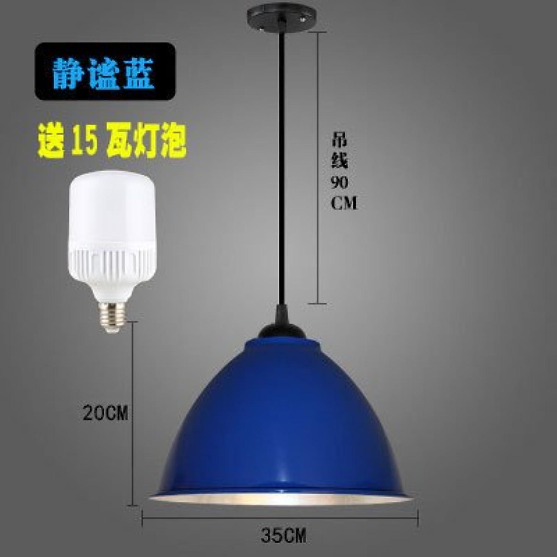 Luckyfree Kreative Modern Fashion Anhnger Leuchten Deckenleuchte Kronleuchter Schlafzimmer Wohnzimmer Küche, 35 cm dicken blauen 15-W-Lampe