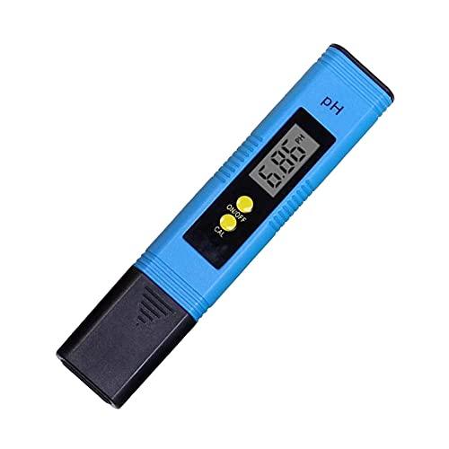 Medidor De PH Digital Water Quality PH Tester Pen 0.00-14.0pH Pluma De Prueba De PH De Tamaño Mini Portátil El Rango De Medición Es Adecuado para Agua Potable (Azul)