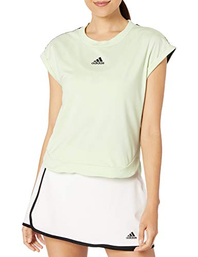 adidas Ny Tennis Tee, Glow Green/Black, Small
