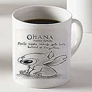 ABcofeemugs Ohana Mean Family Disney Lilo and Stitch for Mug Cup Two Sides 11 Oz Ceramics
