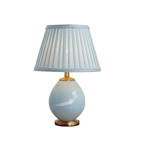 JYDQM Sombra de Bronce del Metal rústica lámpara de Mesa de Lino Tambor for el Dormitorio de la Sala de la Familia Mesilla de Noche lámpara de Mesa