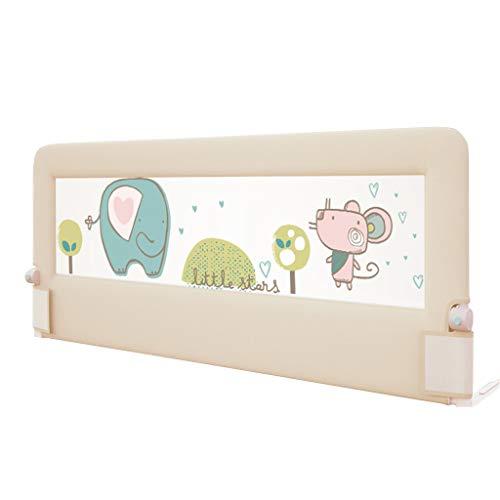 Bettgitter Premium-Bettgitter für Kleinkinder Schutzgeländer, Baby-Schutzgeländer für Hochbett für Kleinkinder/Kinder/Kinder für Cabrio Kinderbett, Kinder-Twin, Doppelbett mit Elefantenmuster