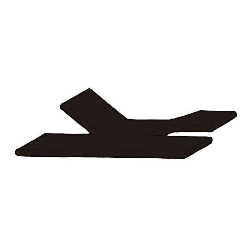 Split Topper hoeslaken dubbele inkeping Duo boxspring bed 180-200 x 200-220 cm 0700 zwart