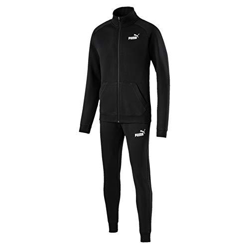 PUMA 854094 Tuta Uomo Clean Sweat Suit CL 01 Nero,XXL