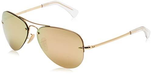 Ray-Ban Unisex Rb 3449 Sonnenbrille, Gold (Gestell: Gold, Gläser: Kupfer Verspiegelt 001/2Y), Large (Herstellergröße: 59)