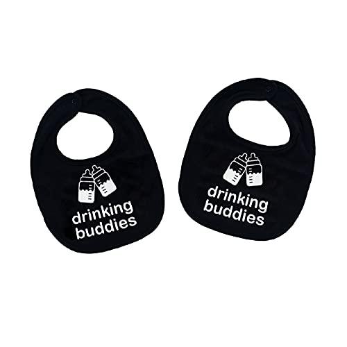 Drinking Buddies Twins Baby Bibs