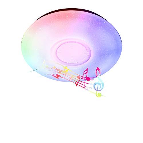 Ankishi RGB Led Deckenleuchte, Deckenlampe Rund mit Bluetooth Lautsprecher, 24W 1680lm Dimmbar Deckenlampe Farbwechsel mit Fernbedienung, Schlafzimmer Küche Kinderzimmer Wohnzimmer (24)
