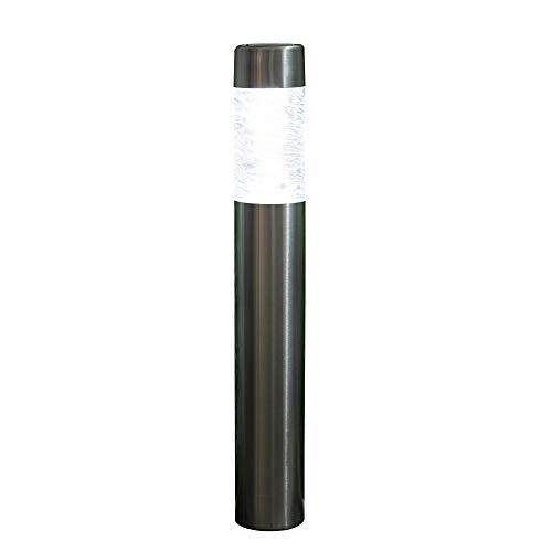 Noma Noma roestvrij staal bollamp met witte led met glazen lens, groot, 60 cm