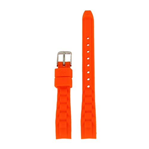 Ice-Watch Uhrenarmband 12mm Kautschuck Orange Uhrband MN.OE.M.S.12 / LB-MN.OE.M.S.12