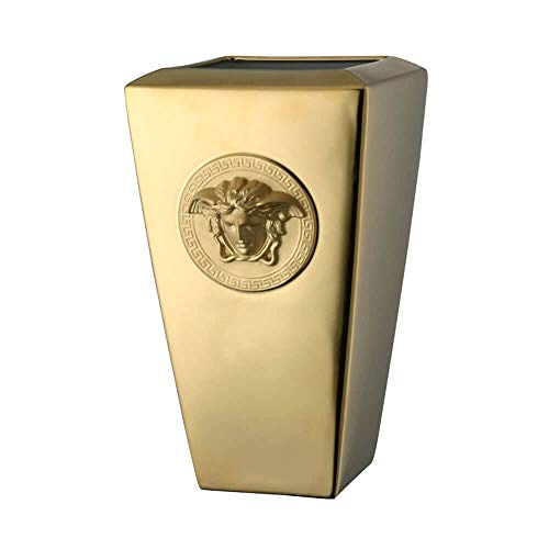 Versace Rosenthal - Vase - Medusa Gold Vase - Höhe: 32 cm - Porzellan mit Goldener Beschichtung