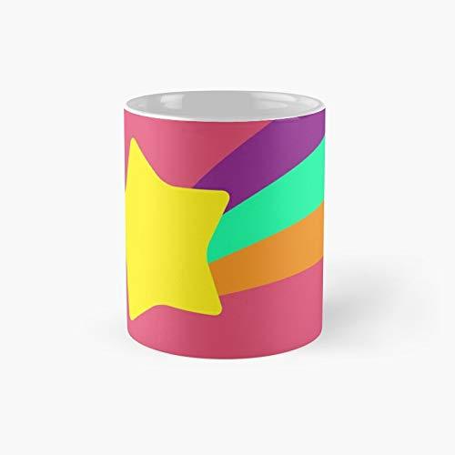 Taza clsica con diseo de estrella de Mabel Pines y el mejor regalo de tazas de caf divertidas de 12 onzas