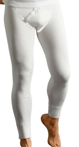 Sous-vêtement thermique - caleçon long et chaud pour hommes - Blanc - Taille 6 (XL)