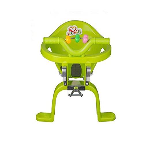 litulituhallo Asiento de bicicleta de bebé Silla colgante de plástico bicicleta delantera montada asiento de bicicleta para bebé verde