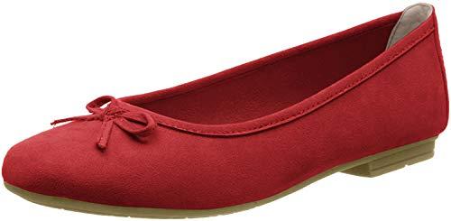 Jana Softline Damen 8-8-22164-24 Geschlossene Ballerinas, Rot (Red 500), 39 EU