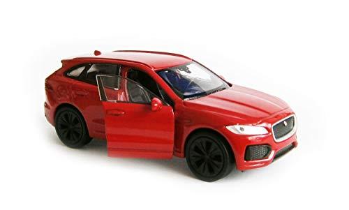 Toi-Toys Jaguar F-Pace - Maqueta de coche (12 cm, metal), color rojo