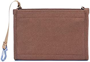 Felt Insert Organizer Bag In Bag Compatible with Purse LV Toiletry Pouch 19 (Brown)