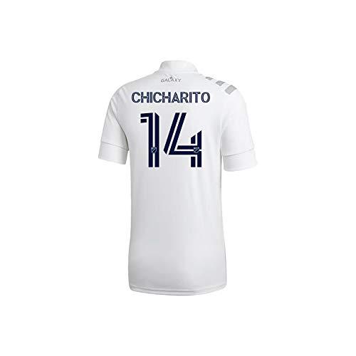 adidas Chicharito Hernandez LA Galaxy Home Jersey 2020 (Large) White