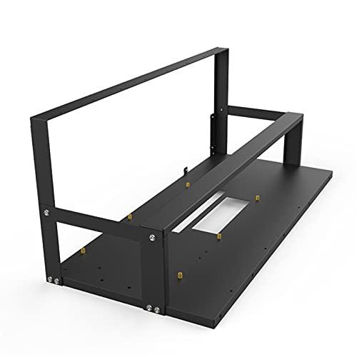 Abimy Estante de minería para 6-8 GPU Rack Mining Rig Frame,Soporte de placa base, acero al aire libre Minería marco de computadora...